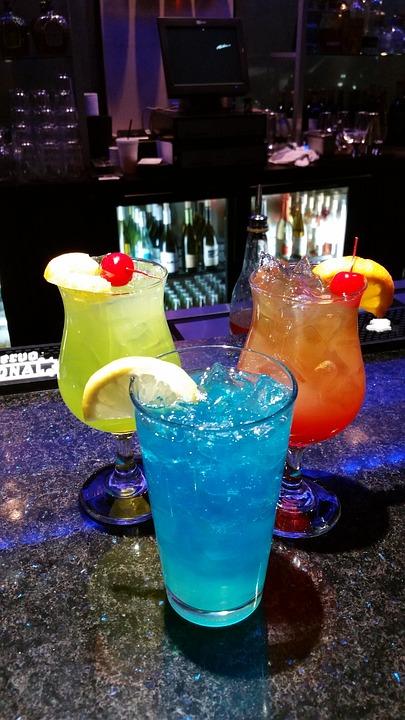 Cocktails, Colorful, Drink, Beverage, Glass, Alcohol