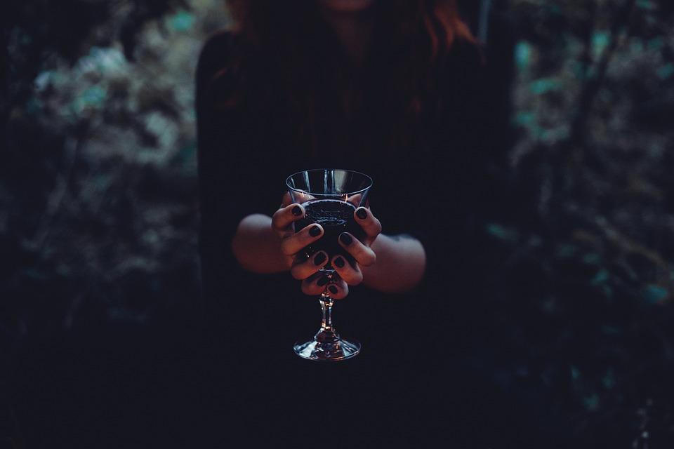 Drink, Glass, Halloween, Woman, Beverage, Blood