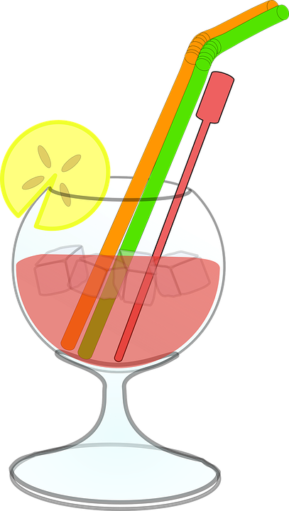Cocktail, Drink, Ice, Stirrer, Alcohol, Lemon Slice