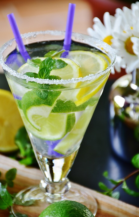Lime, Drink, Mineral Water, Ice, Mint, Glass, Cold