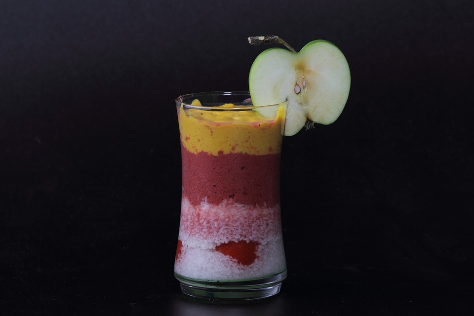 Cocktail, Mix, Fruit, Drink, Smoothie, Apple