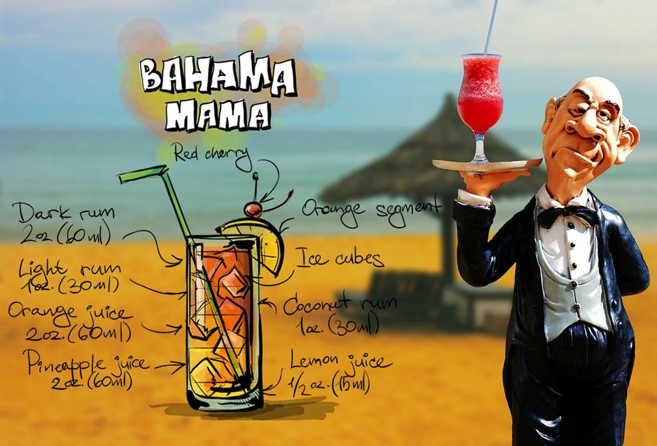 Bahama Mama, Cocktail, Drink, Operation, Upper, Waiter