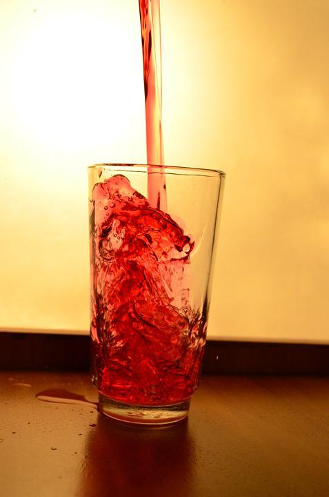 Glass, Liquid, Red, Pouring, Alcohol, Drink, Beverage