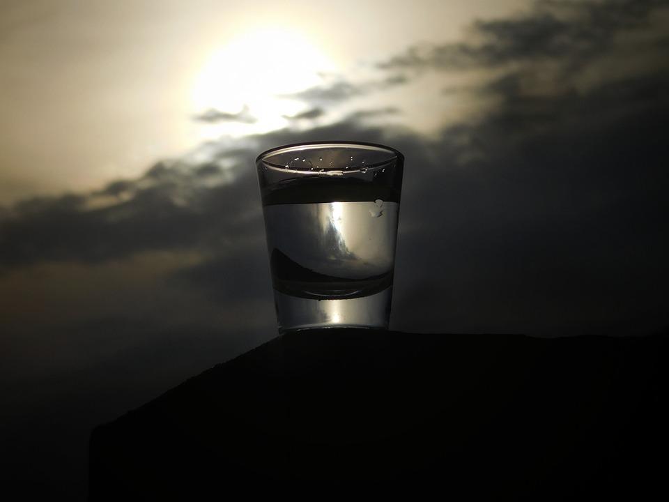 Dawn, Dark, Reflection, Drink, Nature, Sky, Evening