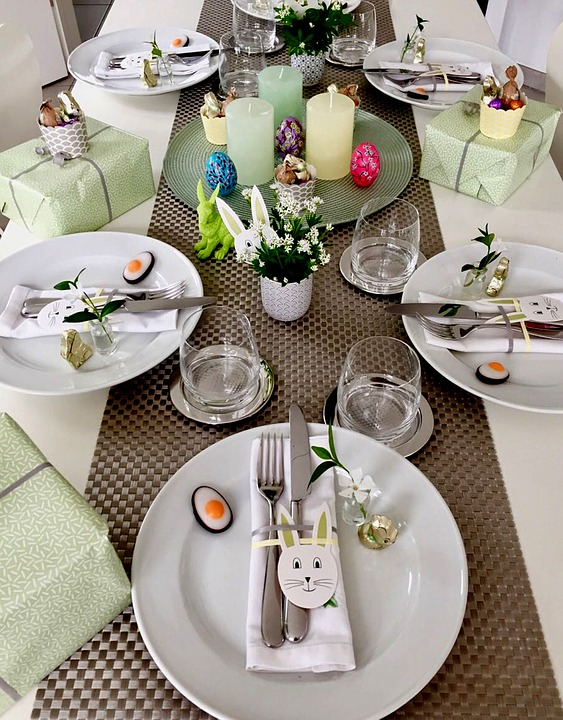 Table Decorations, Eat, Drink, Gedeckter Table, Easter