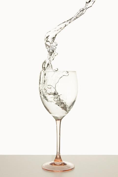Water, Glass, Water Splashes, Liquid, Drink