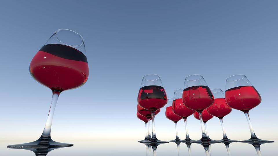 Wine Glasses, Wine, Drink, Red Wine, Alcohol, Glasses