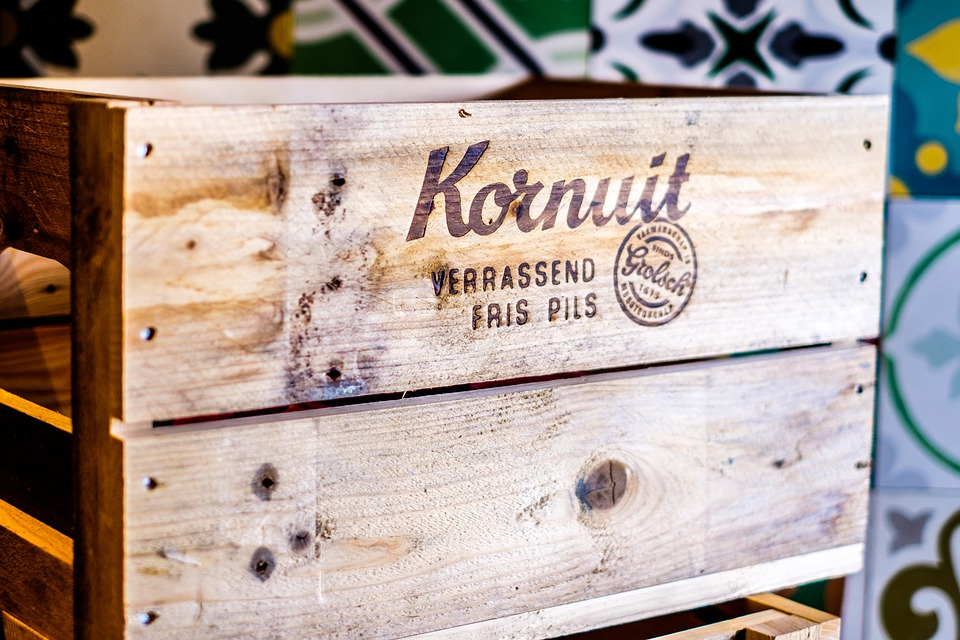 Beer, Crate, Wood, Packing, Beer-bottles, Drinking