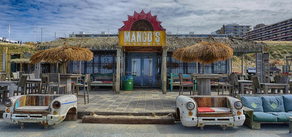 Bar, Beach Bar, Holland, Beach, Water, Holiday, Drinks