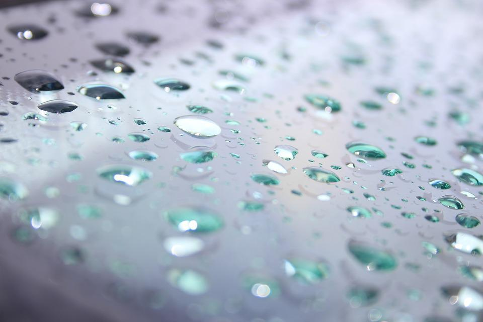Rain, Raindrop, Car Washer, Glass, Light, Beaded, Drip