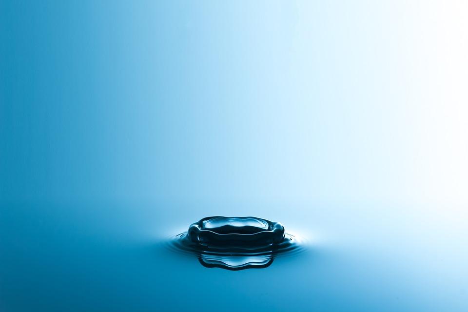 Drop Of Water, Drip, Water, Background, Blue, Liquid