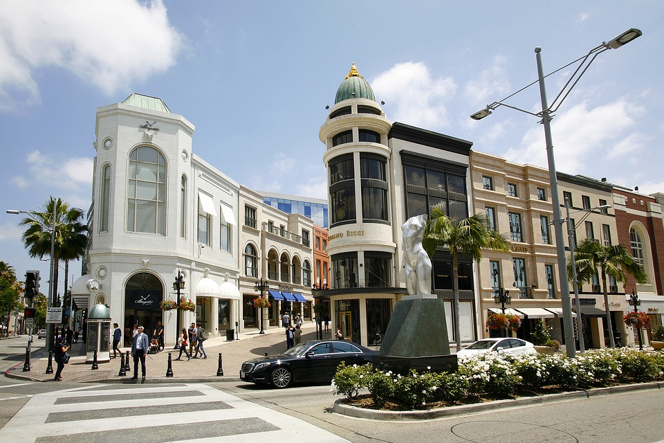 Hills, Beverly, Rodeo, Drive, California, Los, Angeles