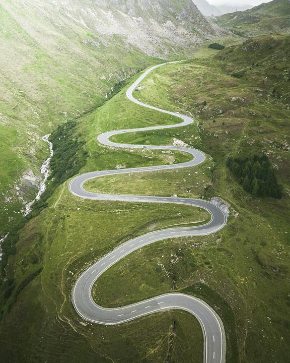 Curvy Road, Road, Curvy, Journey, Drive, Scenic