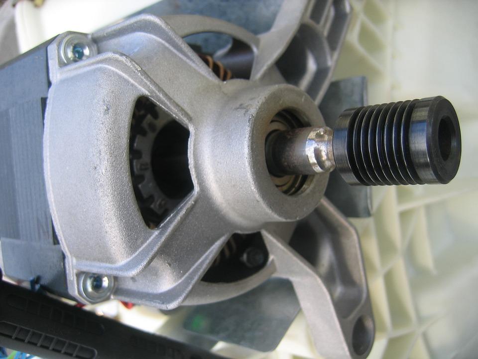 Washing Machine, Motor, Engine Block, Metal, Drive
