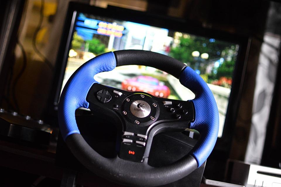Drivingwheel, Playstation, Videogames, Gaming