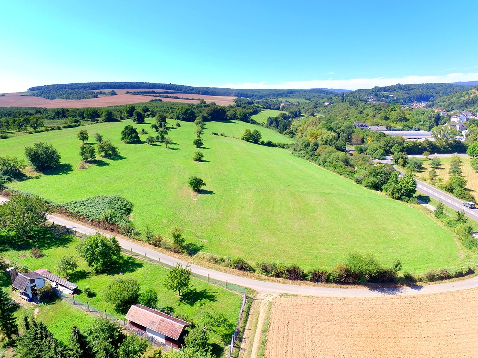Meadow, Aerial View, Drone, Flying Machine, Aircraft