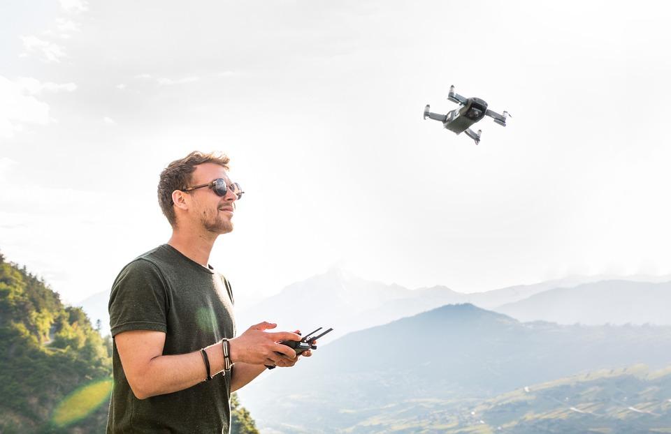Drone, Man, Drone Pilot, Copter, Quadrocopter