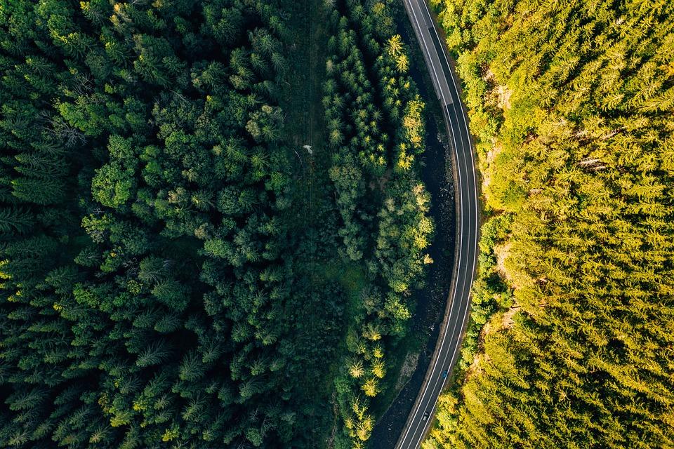 Road, Drone, Aerial, Trip, Travel, Poland, Europe