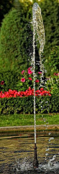 Clear, Drop Of Water, Fountain, Water, Wet