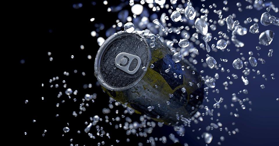 Tin Can, Water, Drop Of Water, Drip, Wet, Liquid