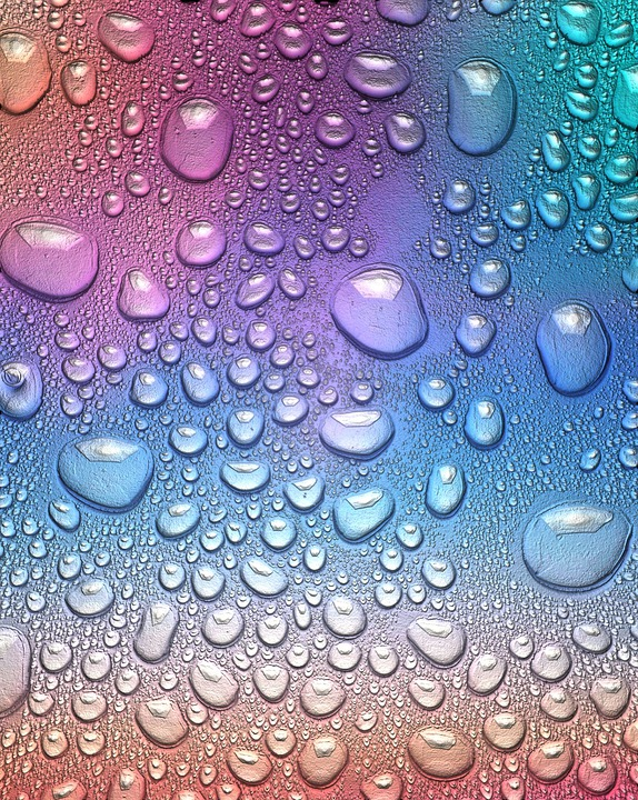 Drop Of Water, Rainbow, Wet, Liquid, Color, Colorful