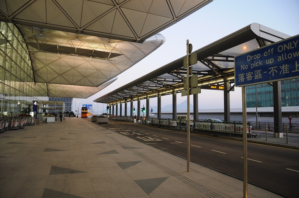 Hong Kong International Airport, Drop Off Area, Empty