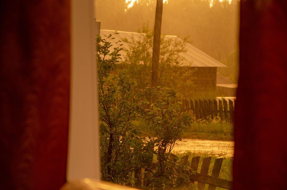 Rain, Window, Light, Wet, Drops, Nature, Transparent
