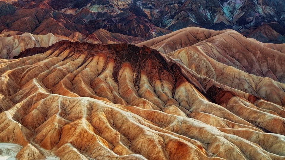 Mountain, Erosion, Death Valley, Desert, Dry, Drought