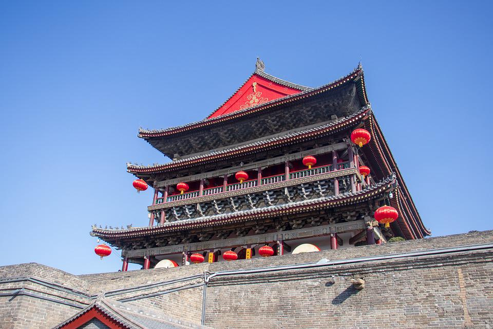 China, Xi'an, Drum Tower, Building, Ancient, Stone