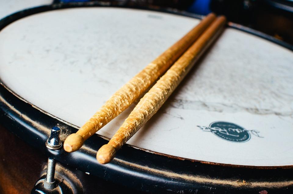 Box, Battery, Drumsticks, Instrument, Music