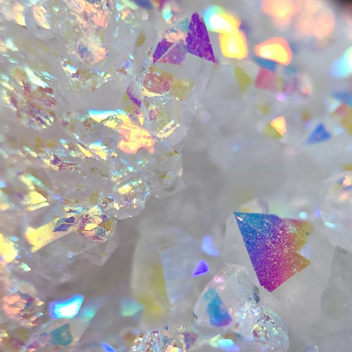 Angel Aura, Opal Aura, Aura, Quartz, Cluster, Druzy