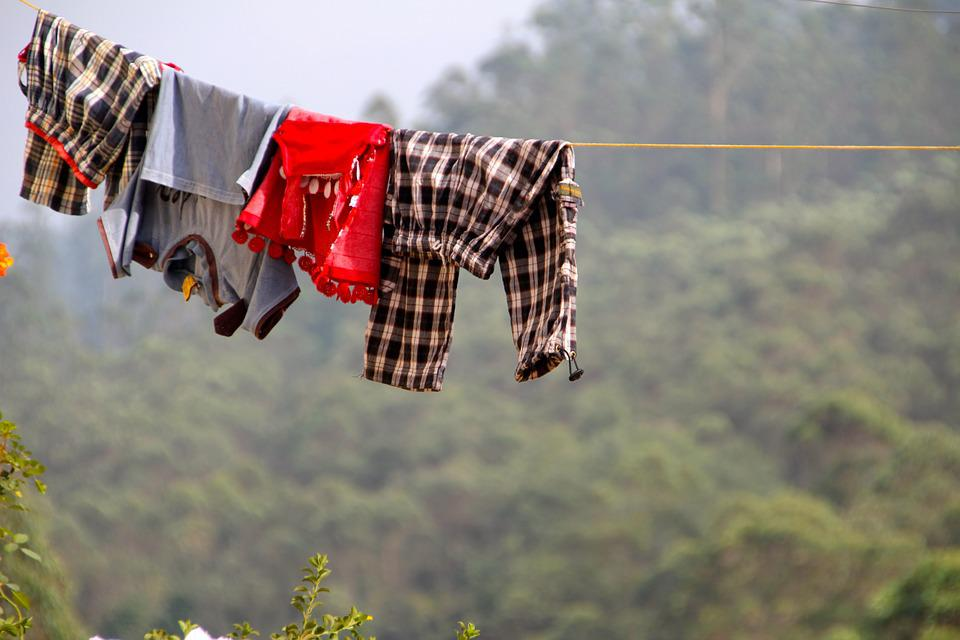 Clothes Line, Clothes, Dry