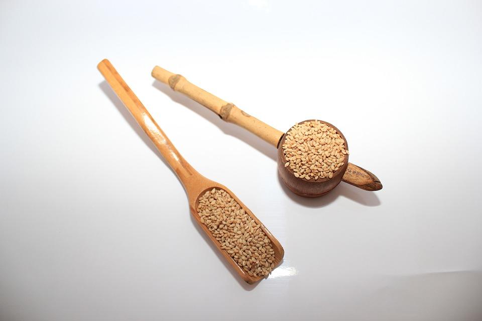 Food, Dry, Spoon, Sesame, Sesame Fried Sesame