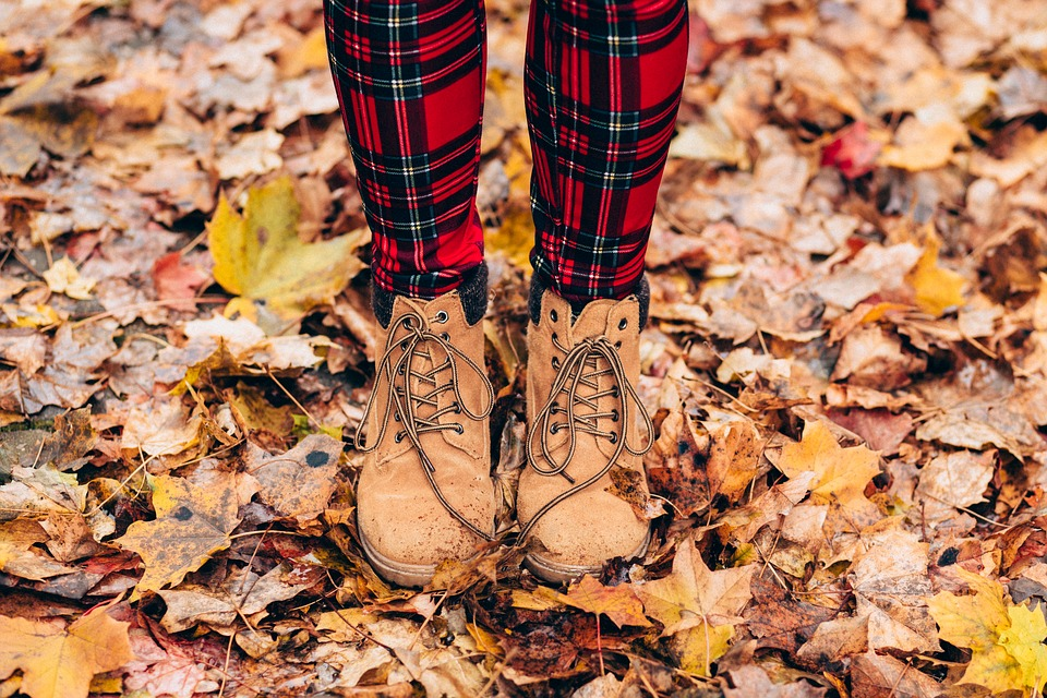 Autumn, Boots, Dry Leaves, Fall, Feet, Footwear, Leaves