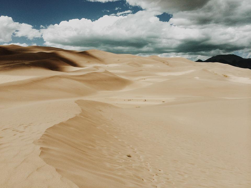 Desert, Sand, Dramatic, Clouds, Dunes, Wilderness, Dry