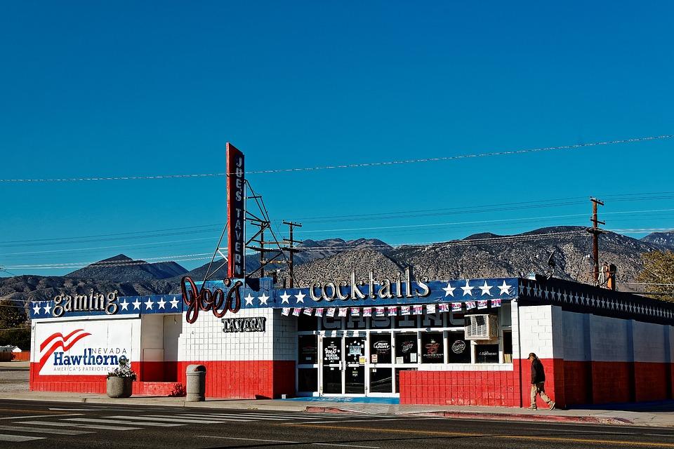 Hawthorne, Nevada, Usa, City, Blue, Sky, Dry, Nature