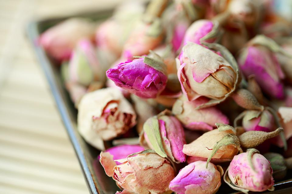 Rosebud, Rose, Dried, Flower, Dry, Tea, Herbal, Petal