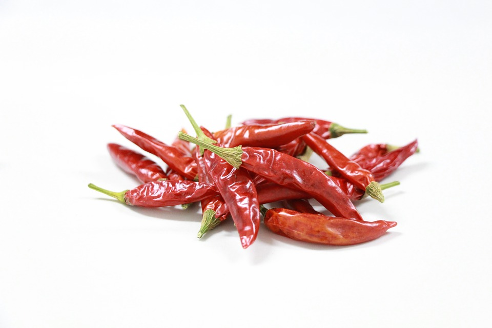 Chili Pepper, Red, Spicy, Drying