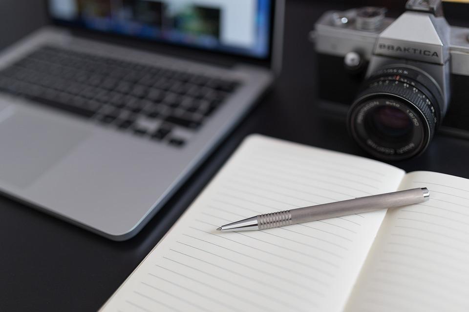 Notepad, Notebook, Pen, Camera, Dslr, Photography