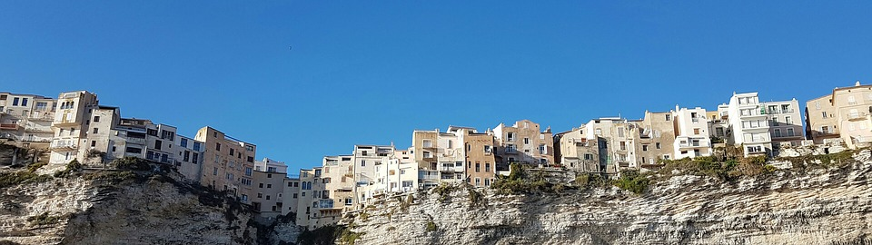 Wallpaper, Dual Screen, Corsica, Bonifacio, Cliff, Edge