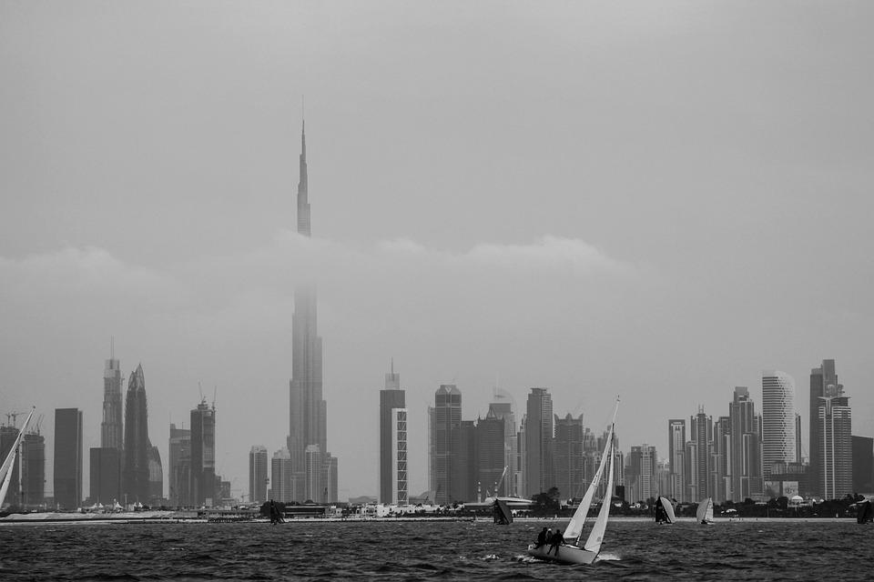 Dubai, Seashore, Burj Khalifa