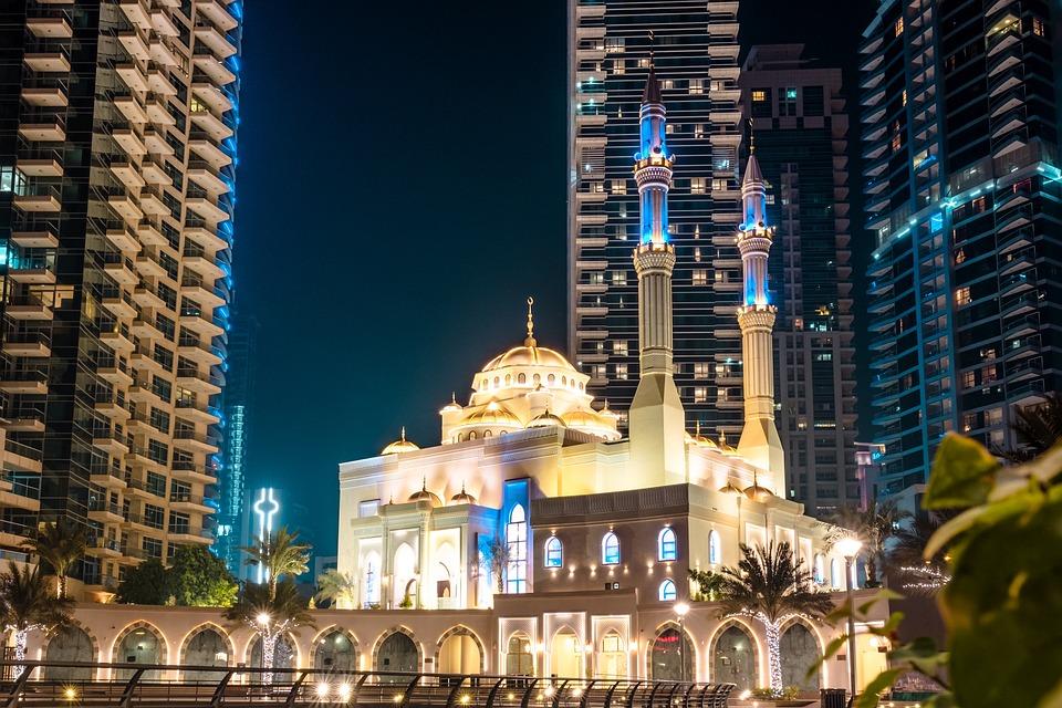 Dubai, Asia, Orient, Marina, Skyline, Skyscrapers