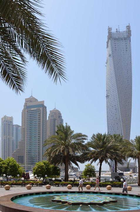 U A E, Vacations, Dubai, Sun, Palm Trees, Skyscrapers
