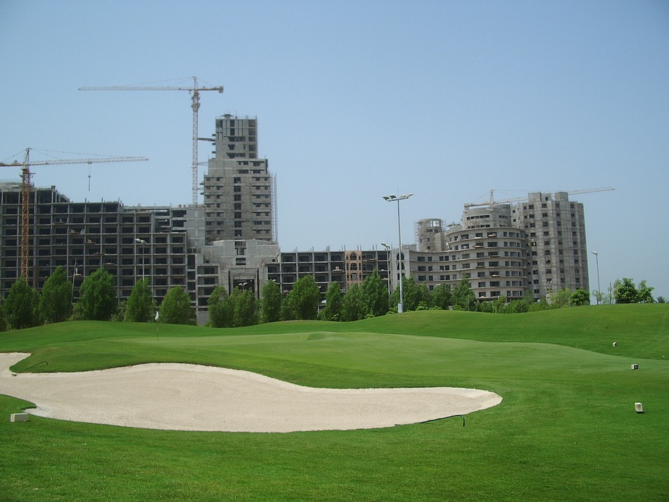 Golf Course, Golf, Uae, Dubai, United Arab Emirates