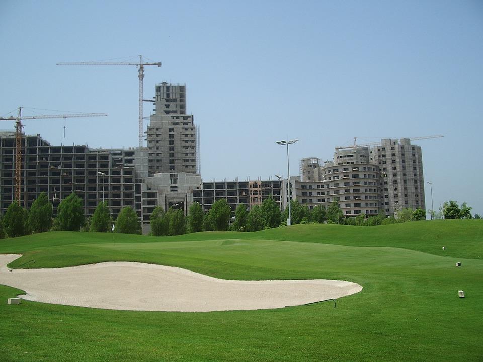 Golf Course, Golf, Uae, Dubai, United Arab Emirates