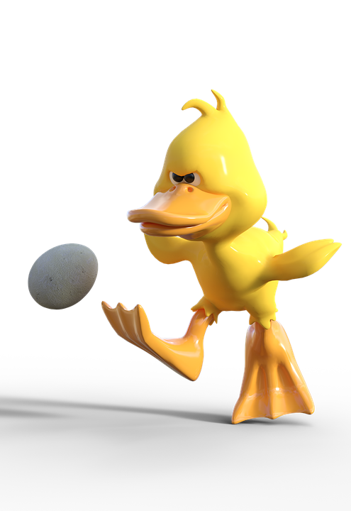 free photo duck cartoon shot egg football easter shoot