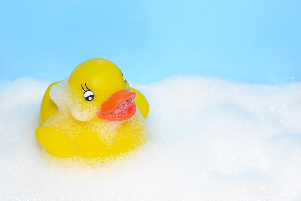 Free photo Duck Cute White Bath Yellow Fun Rubber Foam - Max Pixel