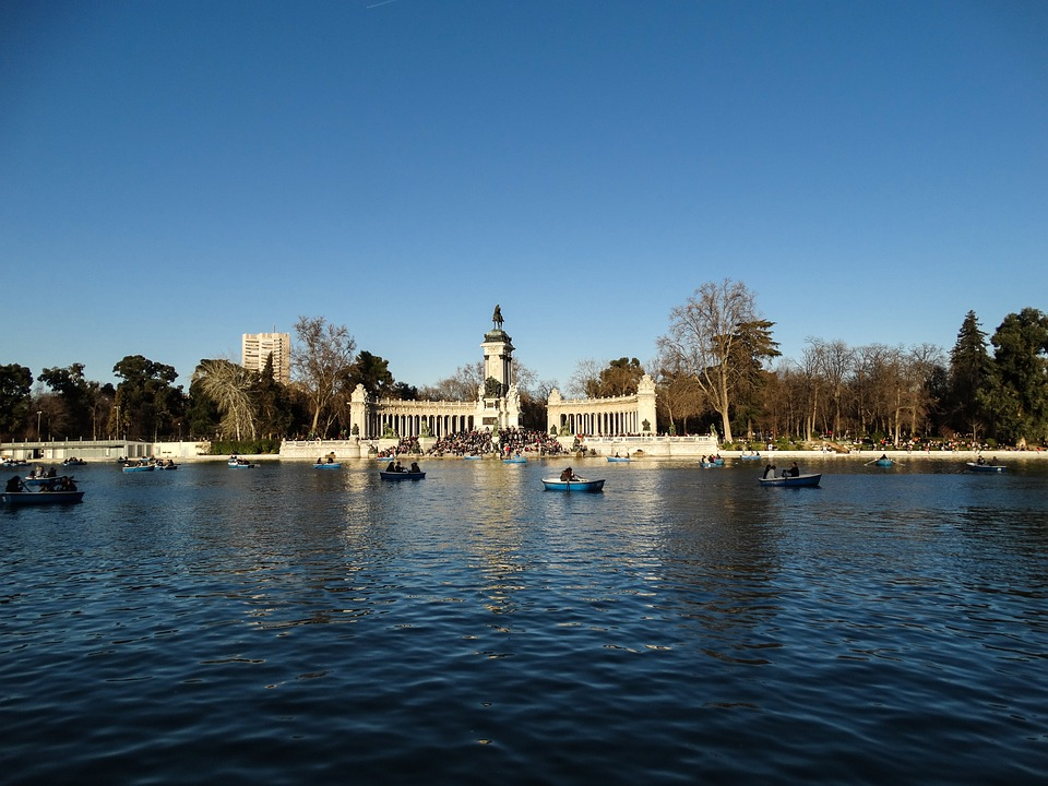 Pond, Duck, Nature, Landscape, Sky, Palace, Reflection