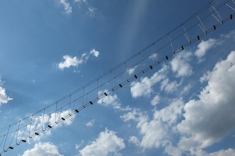 Jacob's Ladder, Clouds, Head, Sky, Düsseldorf