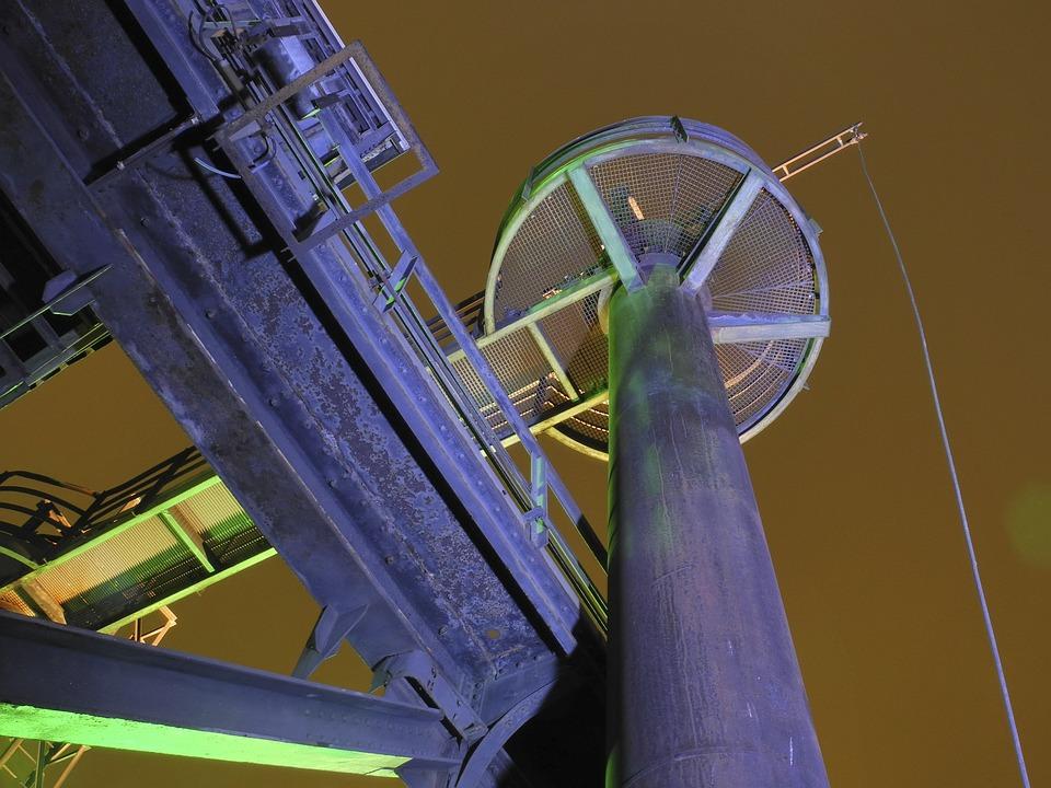 Landscape Park, Industry, Night, Duisburg